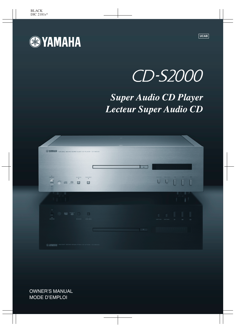 Yamaha CD-S2000 User Manual | 29 pages