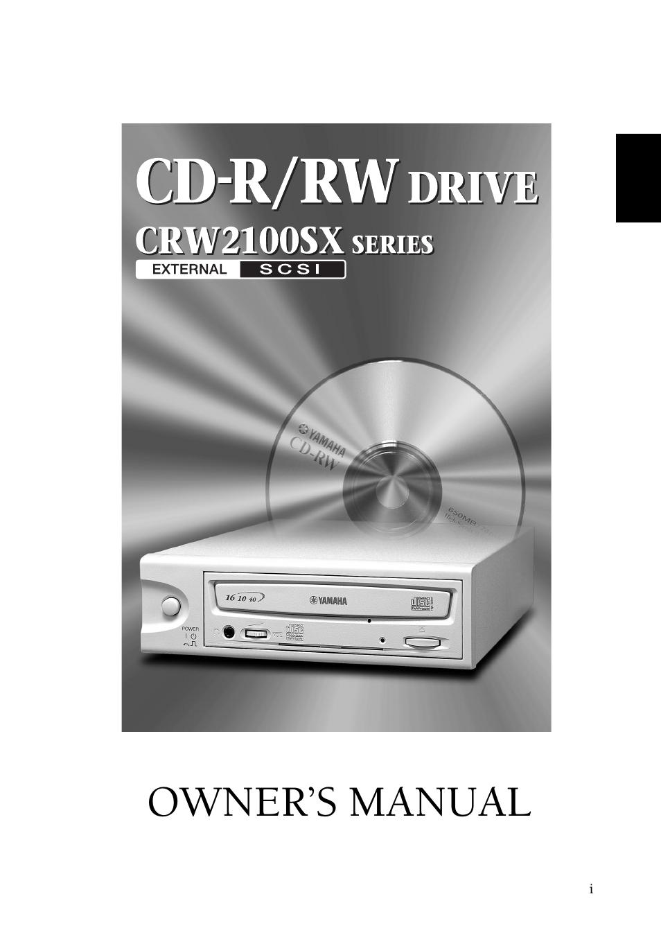 Yamaha External SCSI CRW2100SX CD-RW Drive