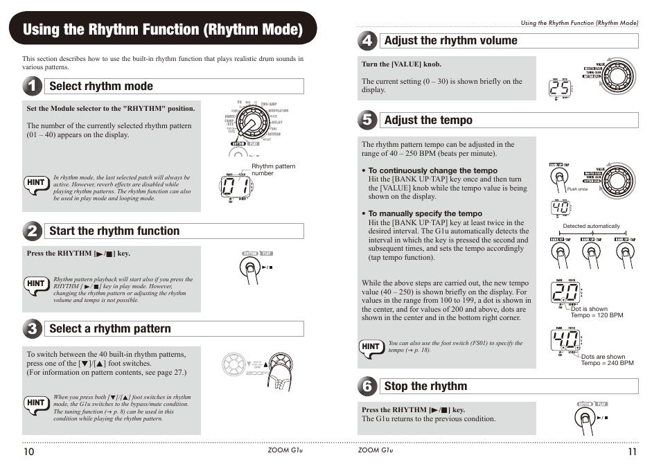 using the rhythm function rhythm mode select rhythm mode start rh manualsdir com Zoom User Manual Kodak 3X Optical Zoom Manual