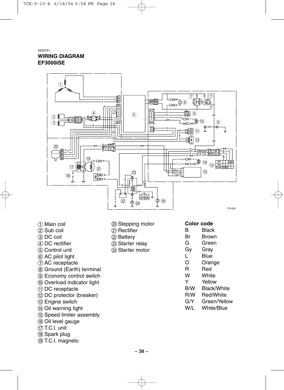 Yamaha Ef3000iseb Wiring Diagram Reinvent Your Raptor 660 Spark Ef3000ise User Manual Page 43 47 Rh Manualsdir Com