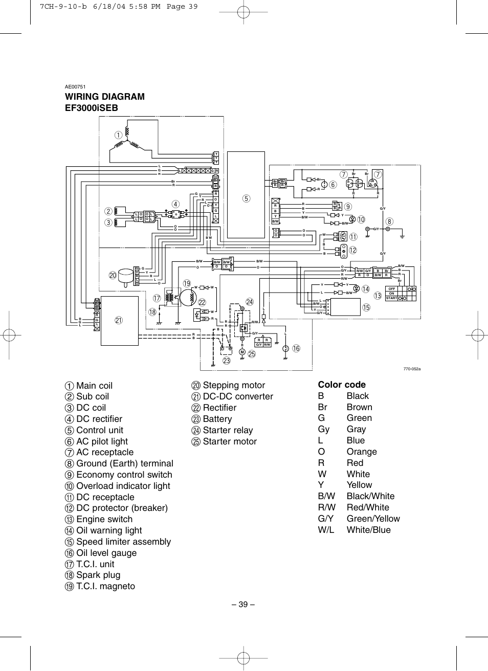 Yamaha Ef3000iseb Wiring Diagram Another Diagrams Chevy Equinox Fuse Box 22922727 Ef3000ise User Manual Page 44 47 Also For Rh Manualsdir Com Exhaust