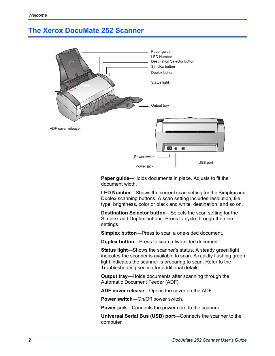 the xerox documate 252 scanner xerox documate 252 user manual rh manualsdir com xerox documate 262 service manual DocuMate 252 Windows 8