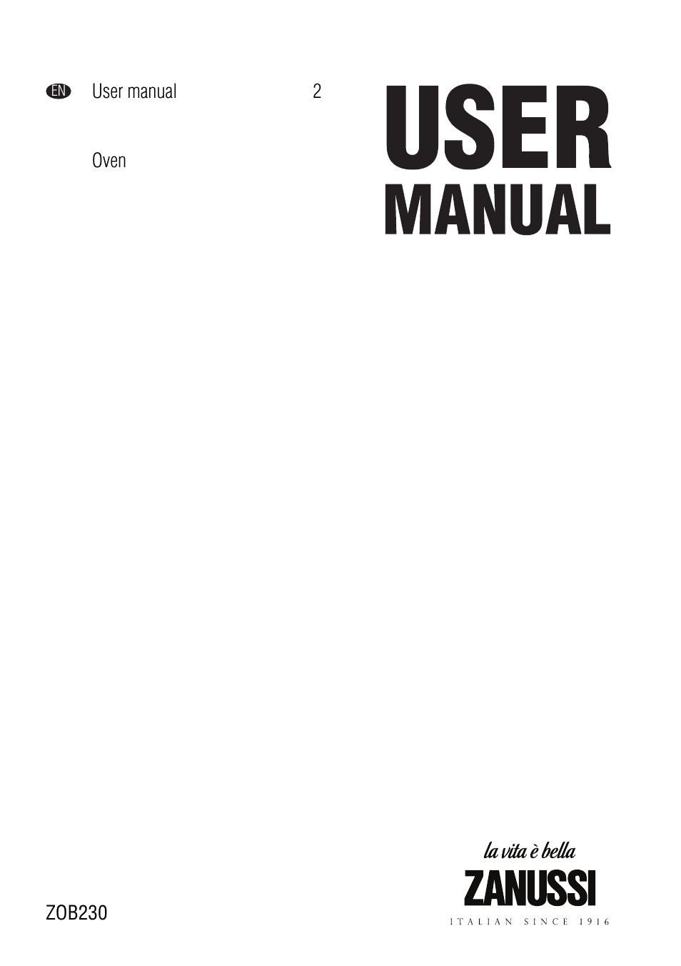 zanussi zob 230 user manual 12 pages rh manualsdir com zanussi oven instruction manuals zanussi oven user guide