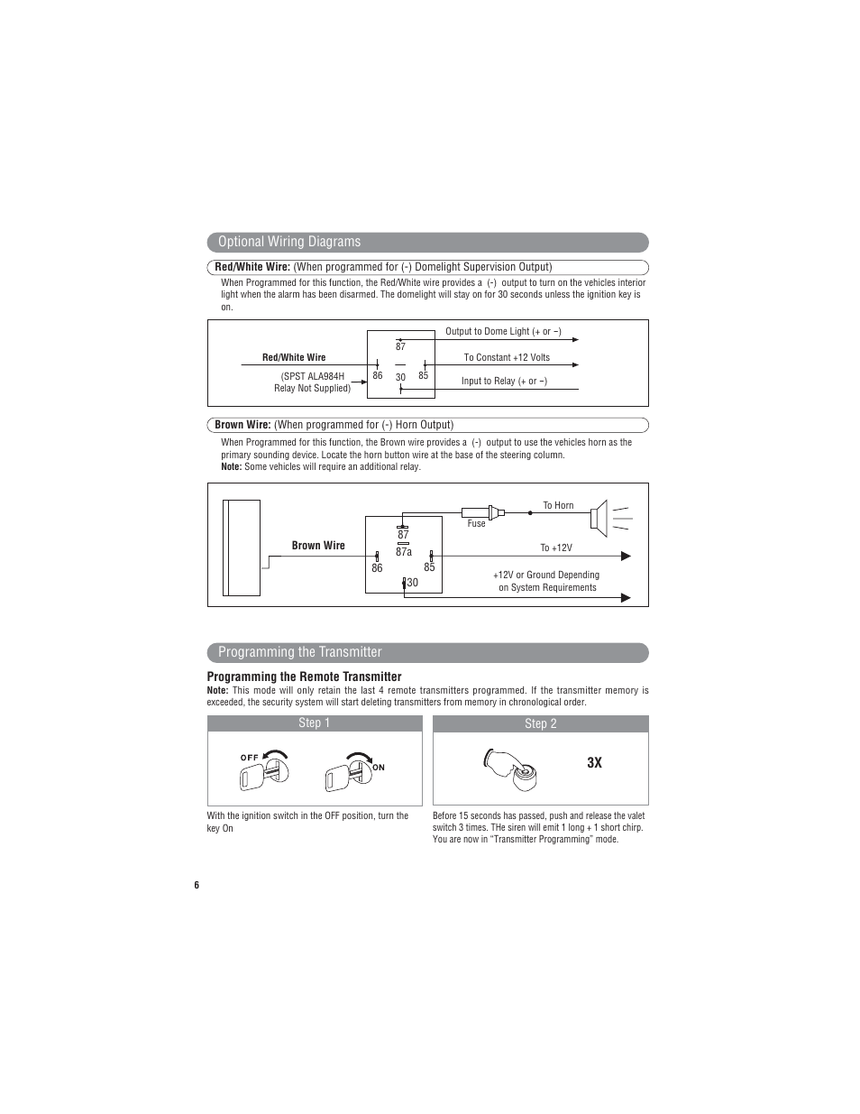 Marksman Series X3 User Manual   Page 6 / 12   Original mode
