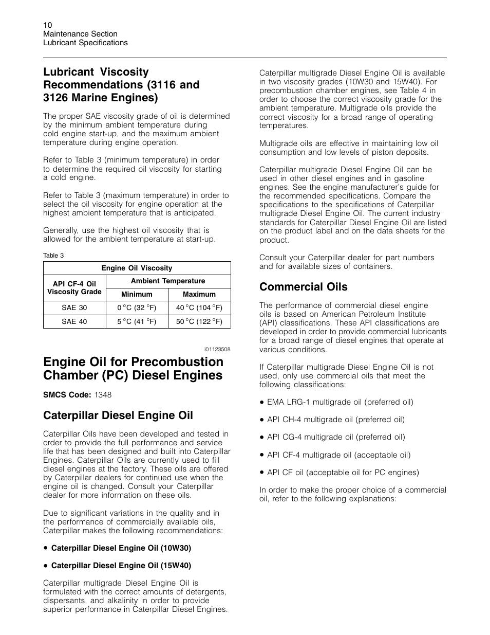 Caterpillar diesel engine oil, Commercial oils | 3Com Caterpillar  Commercial Diesel Engine SEBU6251-06