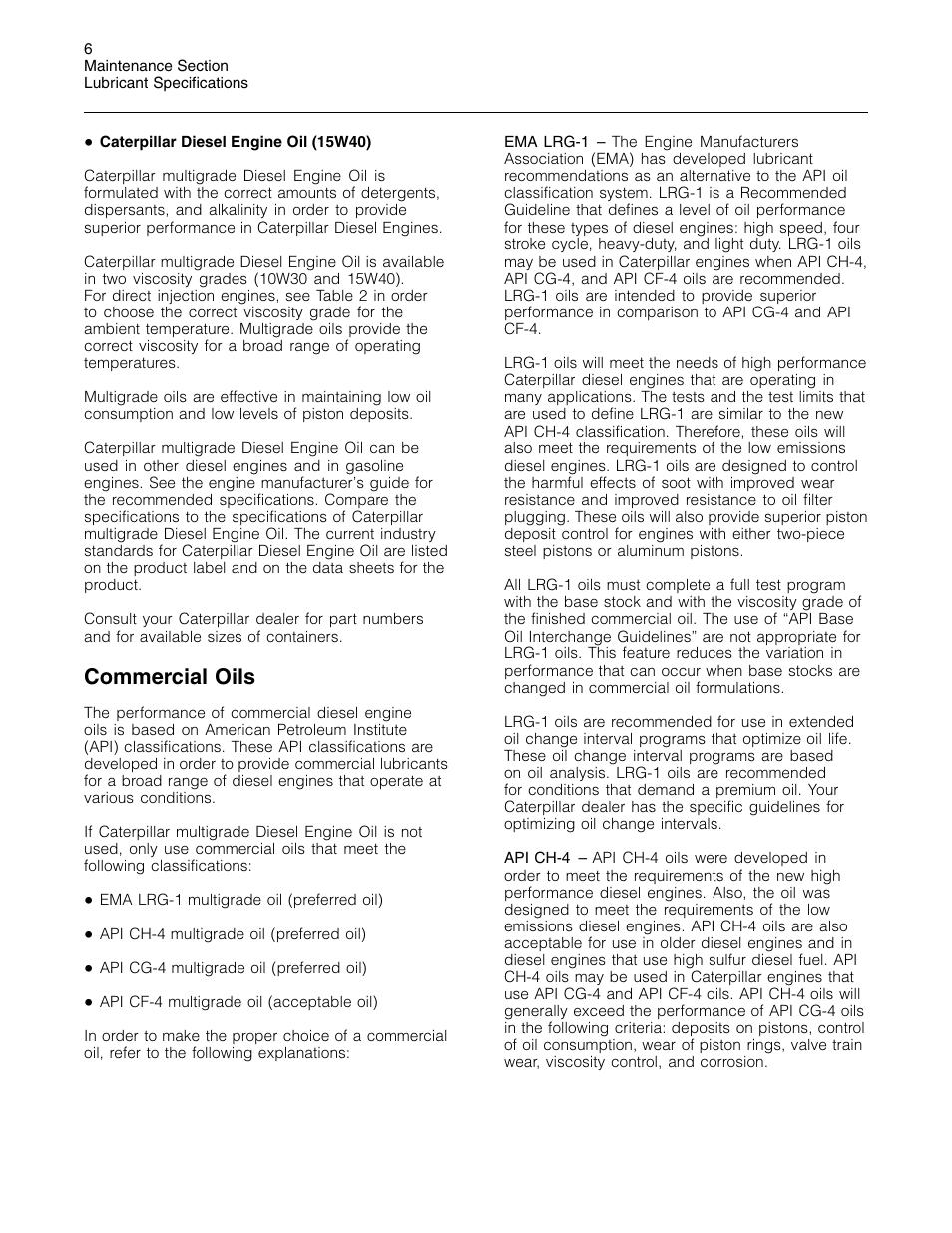 Commercial oils | 3Com Caterpillar Commercial Diesel Engine SEBU6251