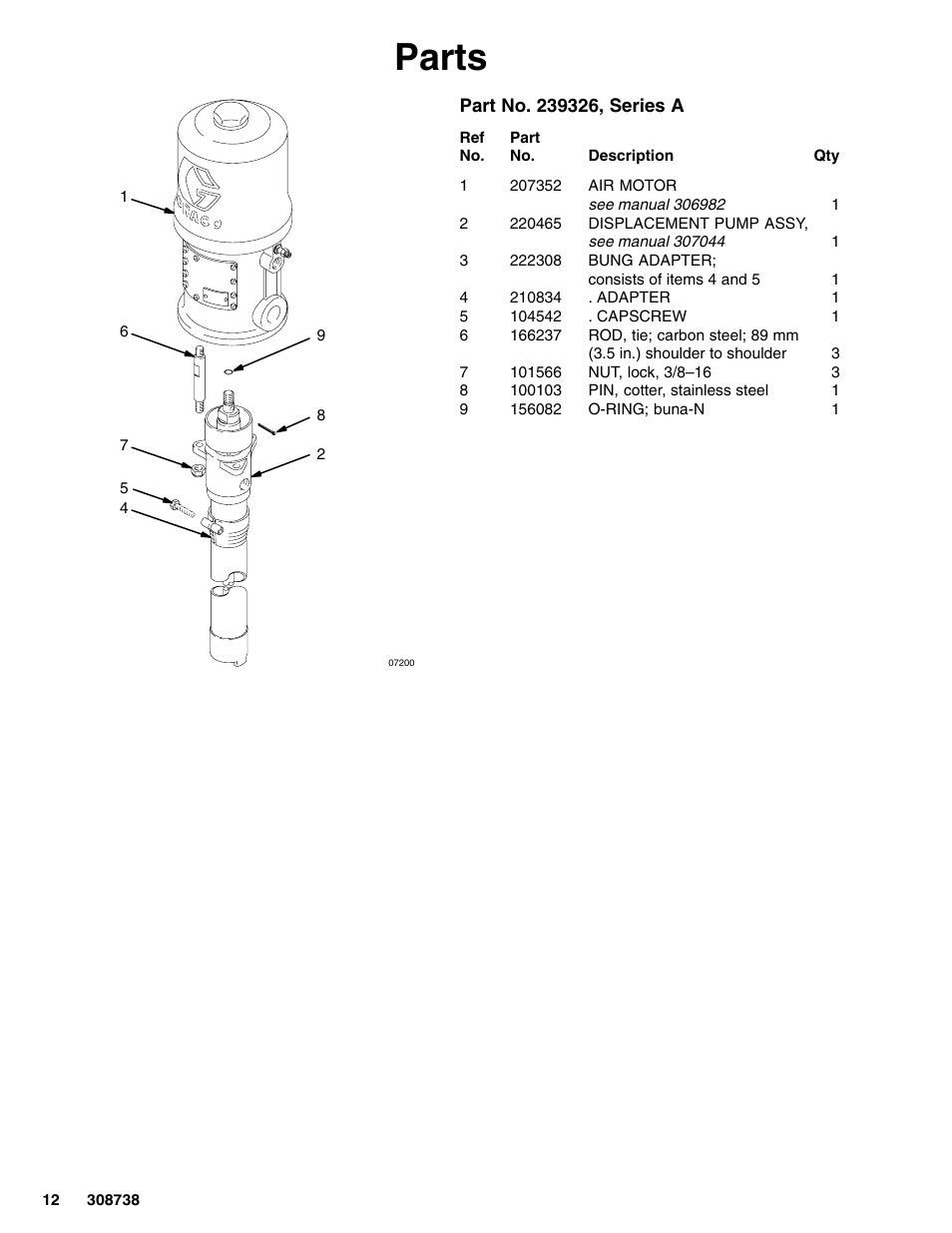Parts | Graco Ratio President Pump 10:1 User Manual | Page 12 / 16