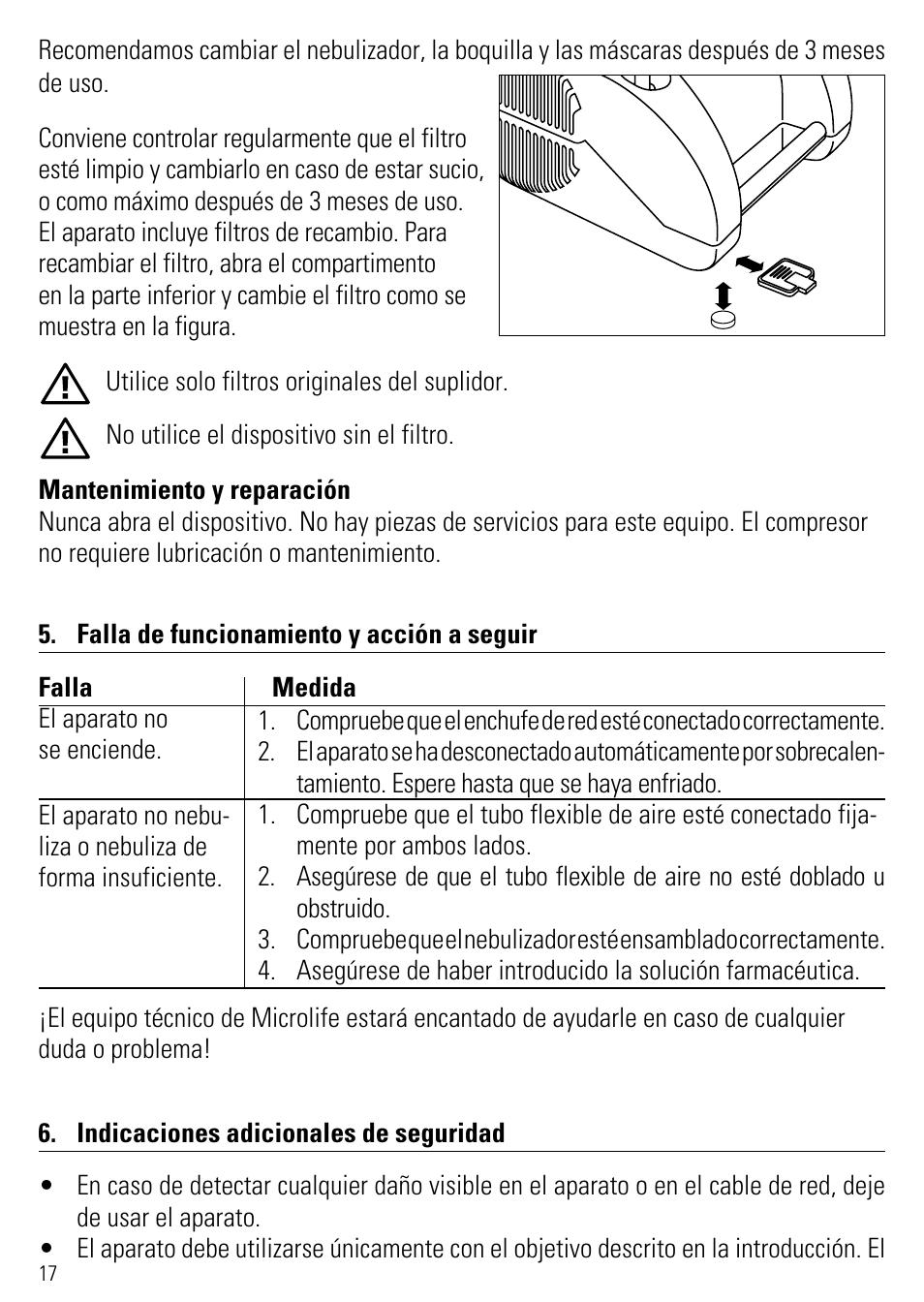Microlife инструкция neb 50