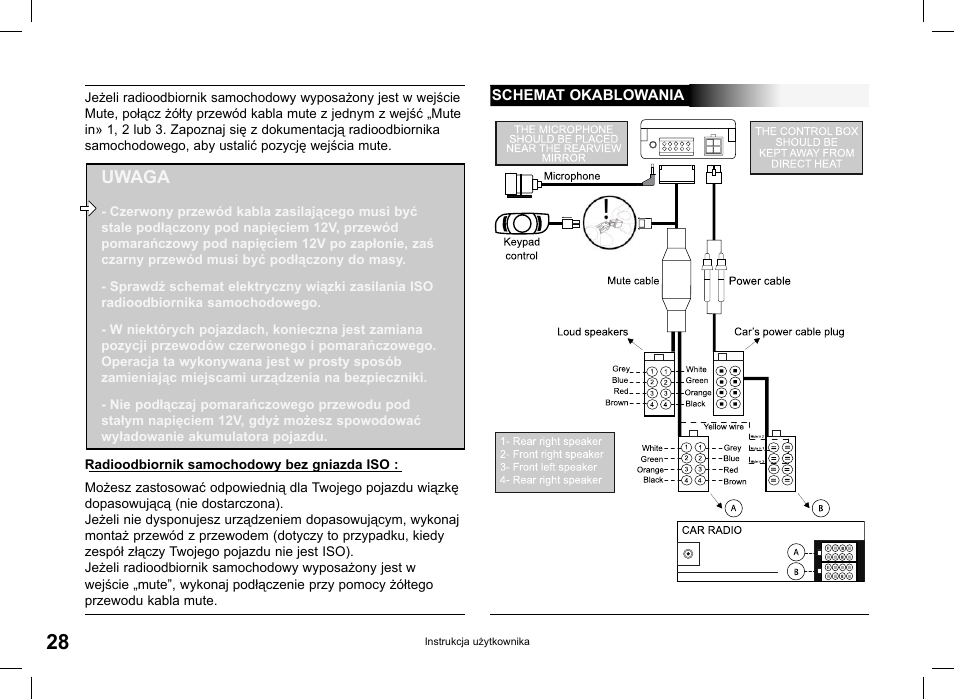 parrot ck3000 evolution page28 uwaga parrot ck3000 evolution user manual page 28 48 parrot ck3000 evolution wiring diagram at webbmarketing.co