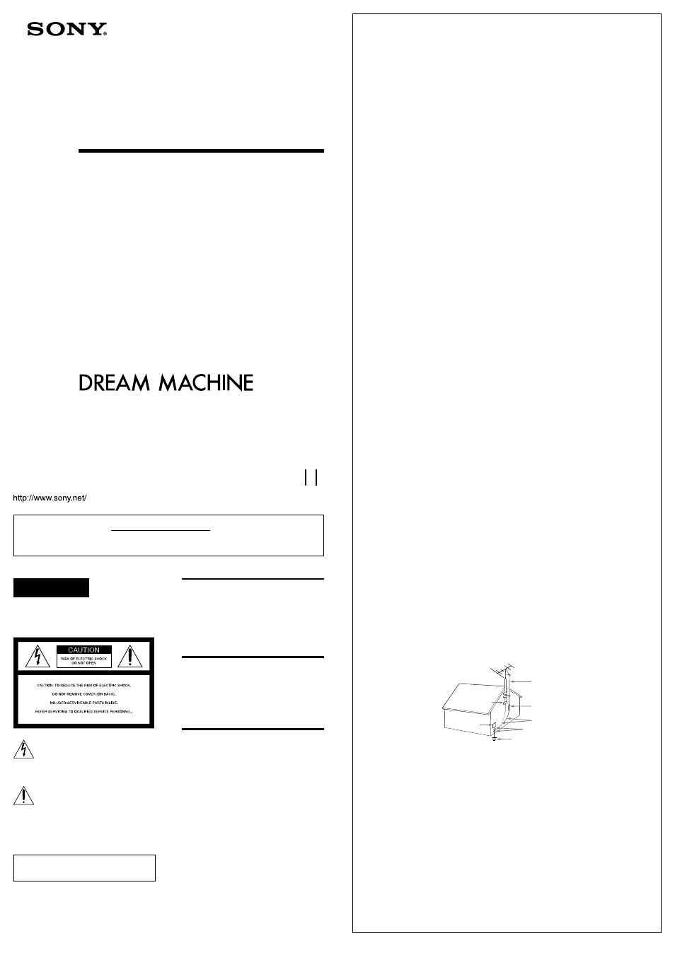 Sony Icf C212 User Manual 2 Pages Also For Dream Machine Icf C212