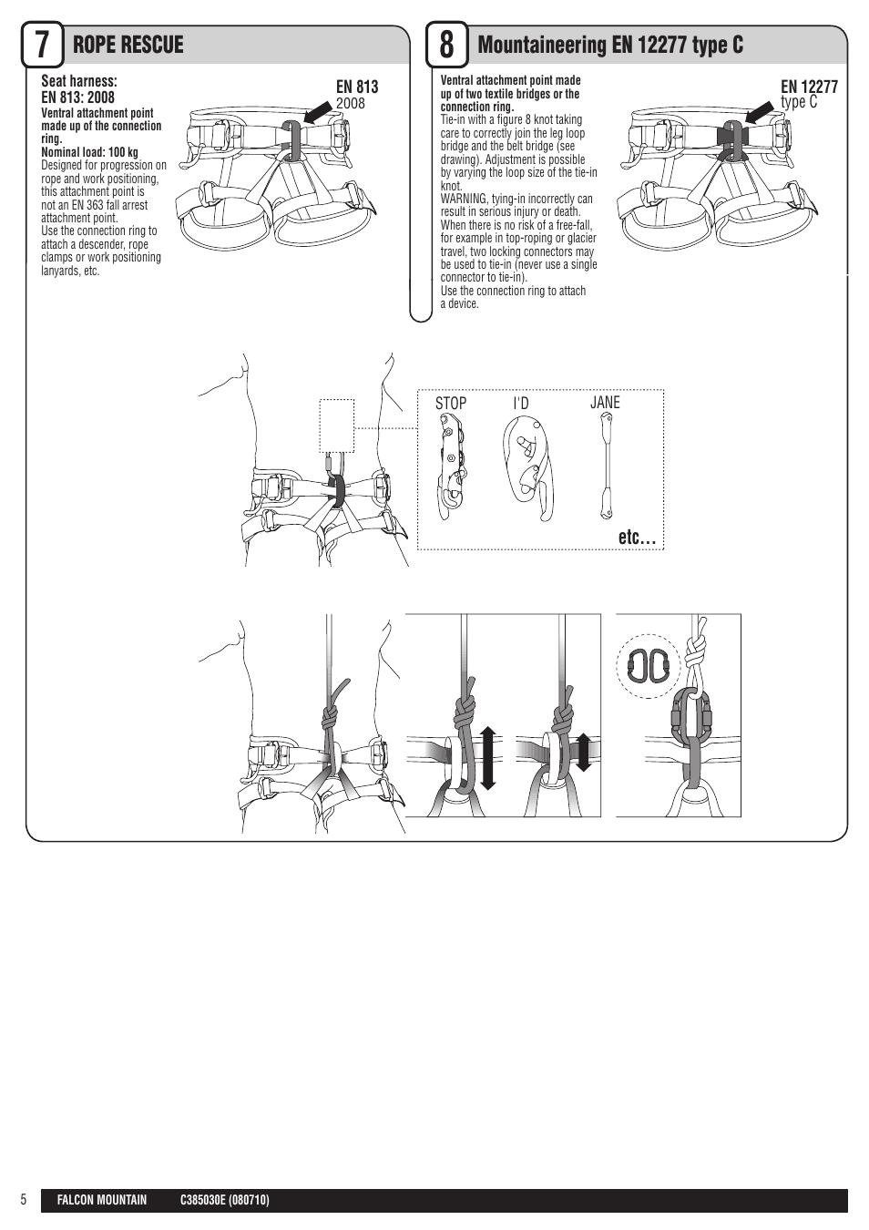 Drawings En Petzl Falcon Mountain User Manual Page 5 26