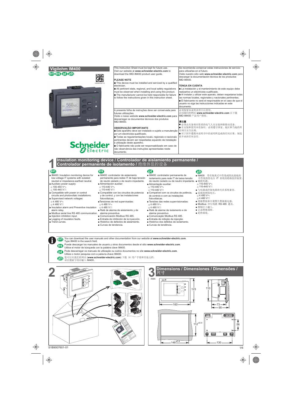 schneider electric vigilohm im400 user manual