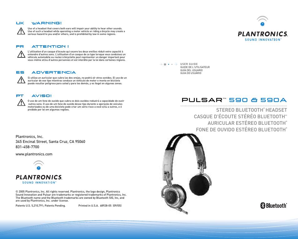 Plantronics Micro-casque Bluetooth Pulsar 590A de Plantronics User