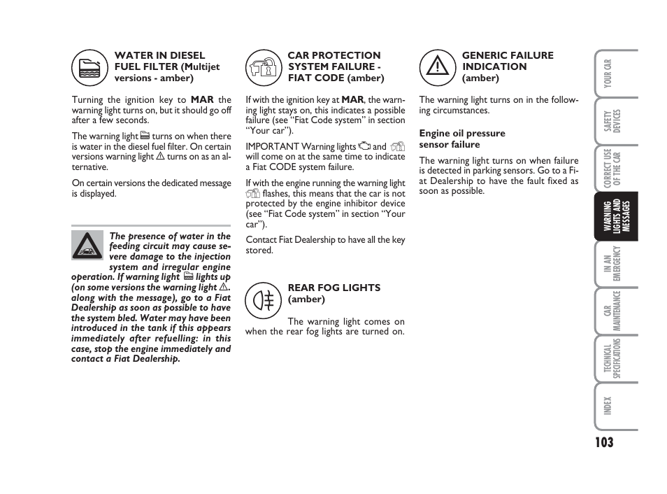 FIAT 500 User Manual | Page 104 / 186