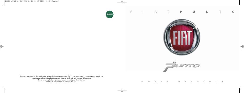 fiat grande punto actual user manual 216 pages rh manualsdir com 2016 Fiat Punto Fiat Punto 2002