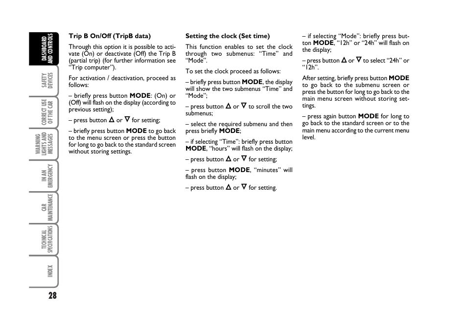 fiat stilo user manual page 29 274 rh manualsdir com Fiat Stilo Interor Fiat Stilo Tuning
