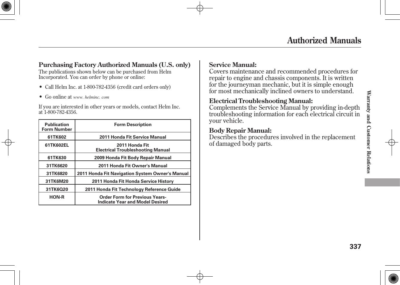 honda fit repair manual online