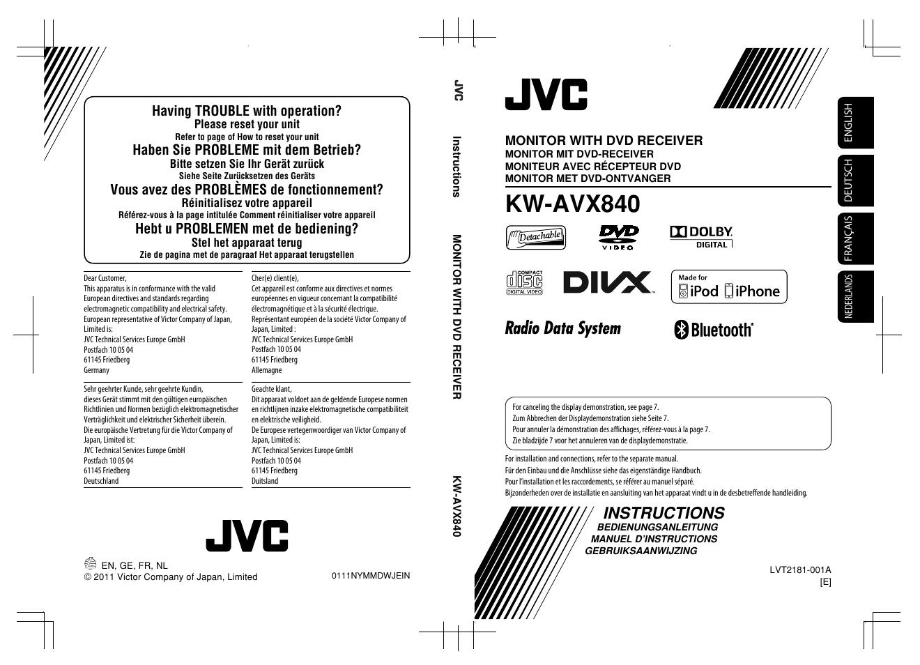 Jvc Avx840 Manual Wiring Diagrams Car Stereo Hd Radio R320 Diagram Array Kw User 261 Pages Rh Manualsdir