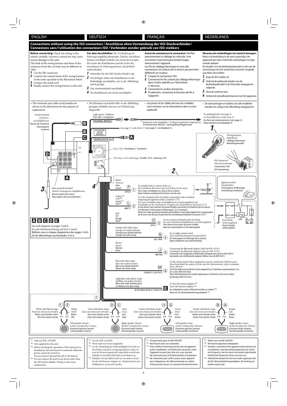 Jvc Kw Av61bt Wiring Diagram
