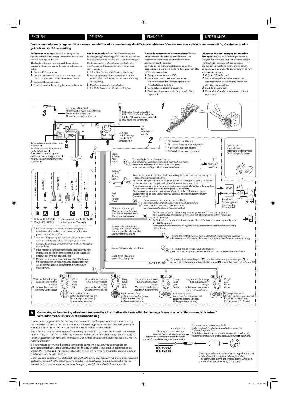 JVC KD-AVX20 User Manual   Page 4 / 6   Original mode   Also for: KD ...