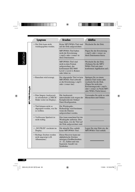 Deutsch | JVC KD-G311 User Manual | Page 56 / 86