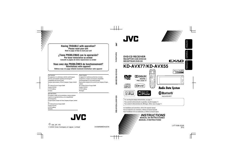 [ZHKZ_3066]  JVC KD-AVX77 User Manual | 220 pages | Original mode | Jvc Kd Avx77 Wiring Diagram |  | Manuals Directory