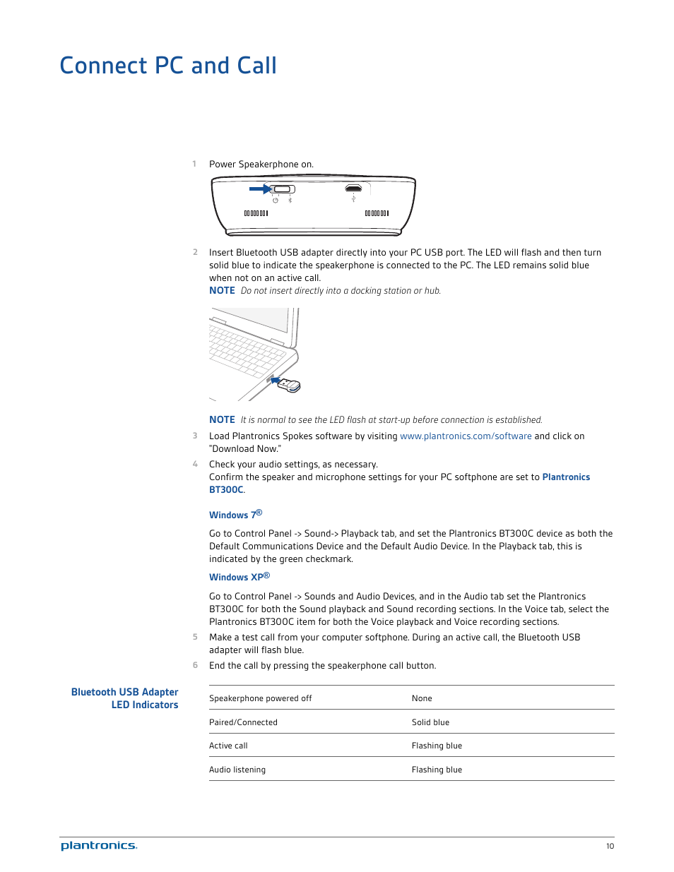 Plantronics calisto 620-m user manual | page 2 / 19 | original mode.