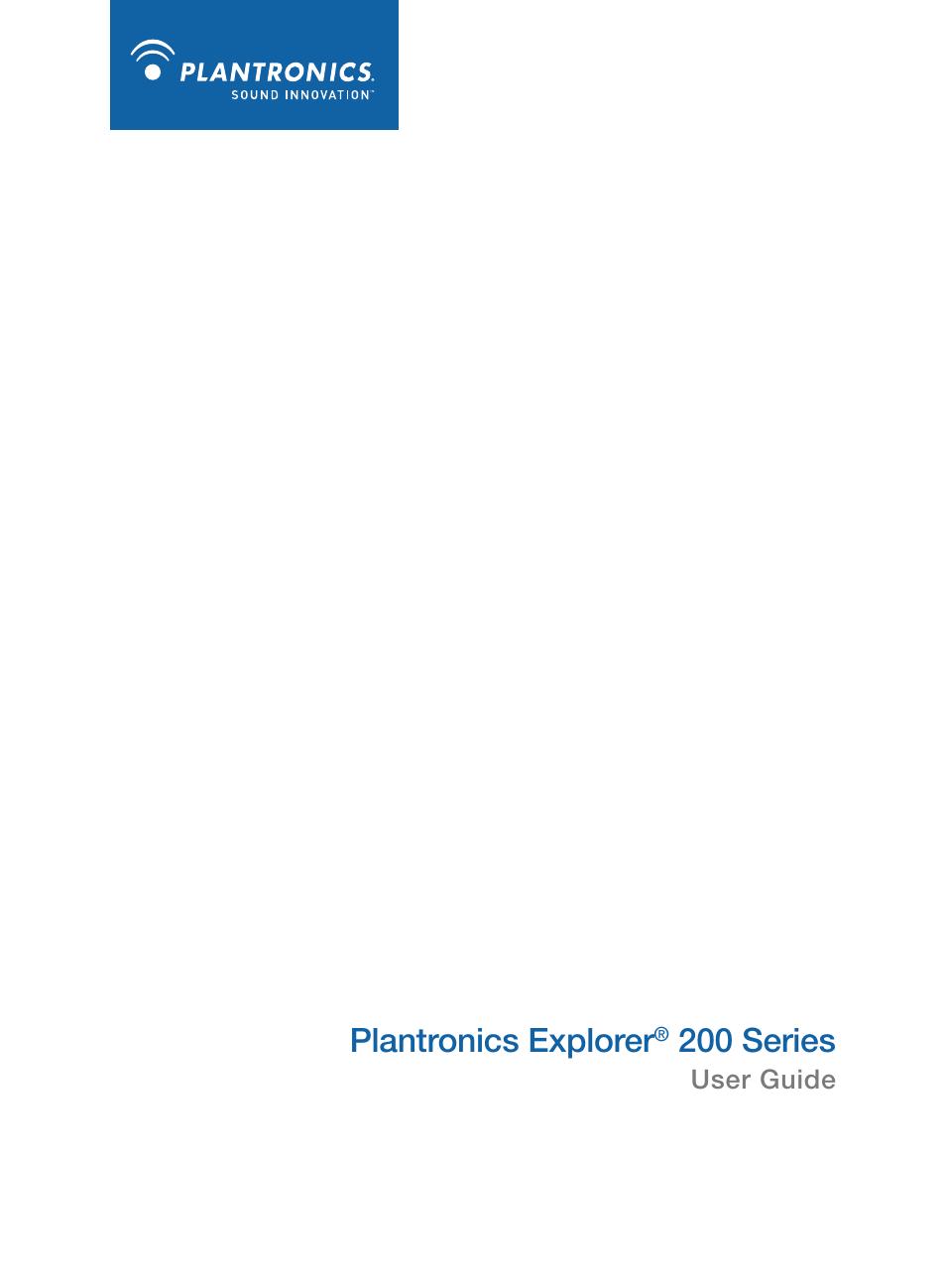 plantronics explorer 260 user manual 18 pages also for explorer 230 rh manualsdir com plantronics explorer 230 manual pdf Manual Panasonic Radio