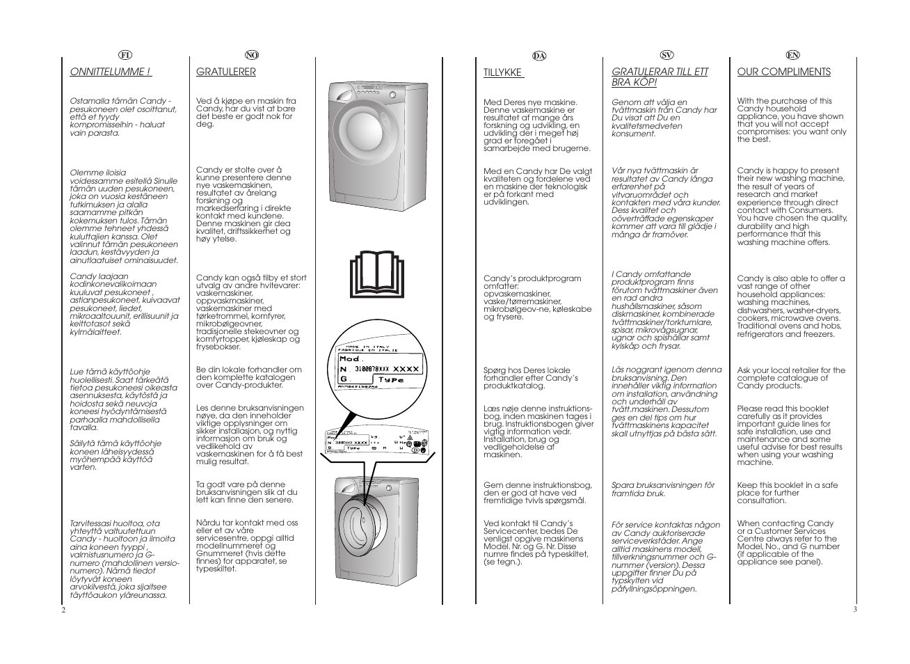 Candy GO4 W264-07S User Manual   Page 2 / 49