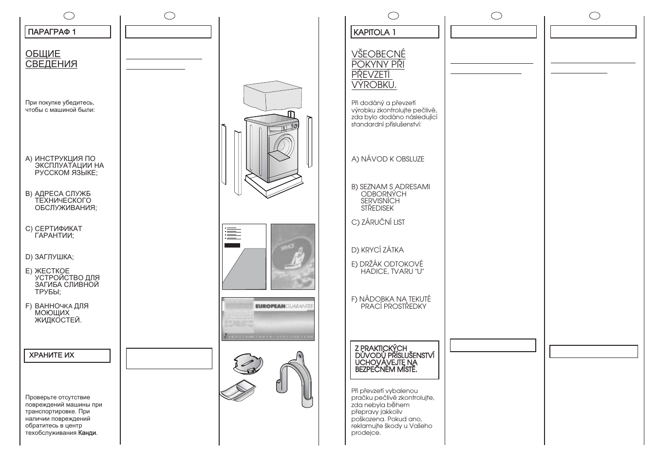 Ef d, Ab c | Candy CNE 89 T RU User Manual | Page 4