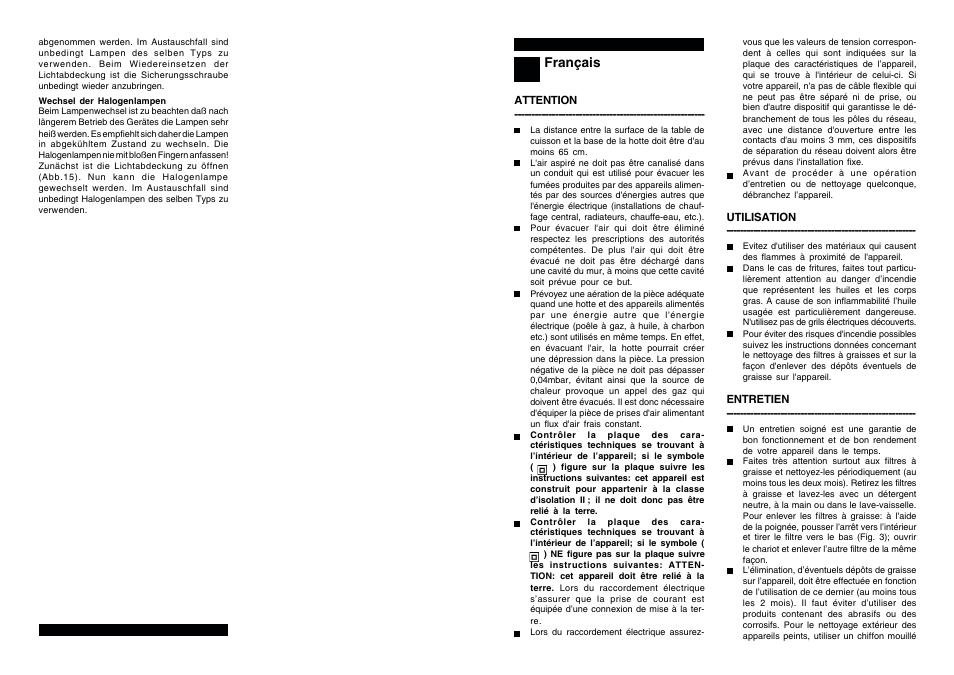 Candy Cbt 92 X User Manual Page 5 10 Original Mode