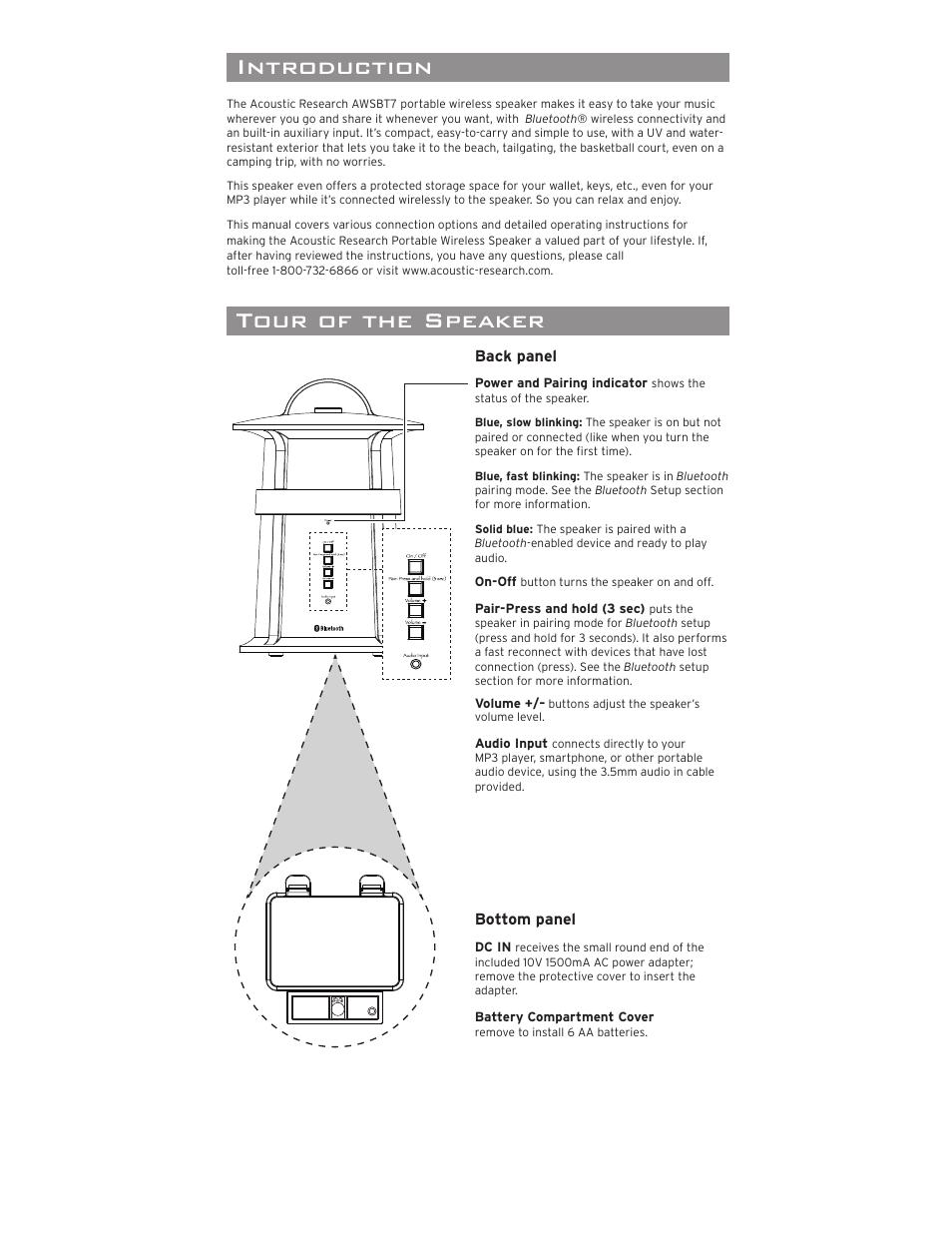 portable wireless speaker introduction important information rh manualsdir com Instruction Manual Maintenance Manual