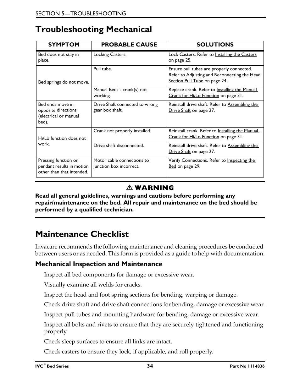 Troubleshooting mechanical maintenance checklist, Troubleshooting mechanical,  Maintenance checklist | Ƽ warning, Mechanical inspection