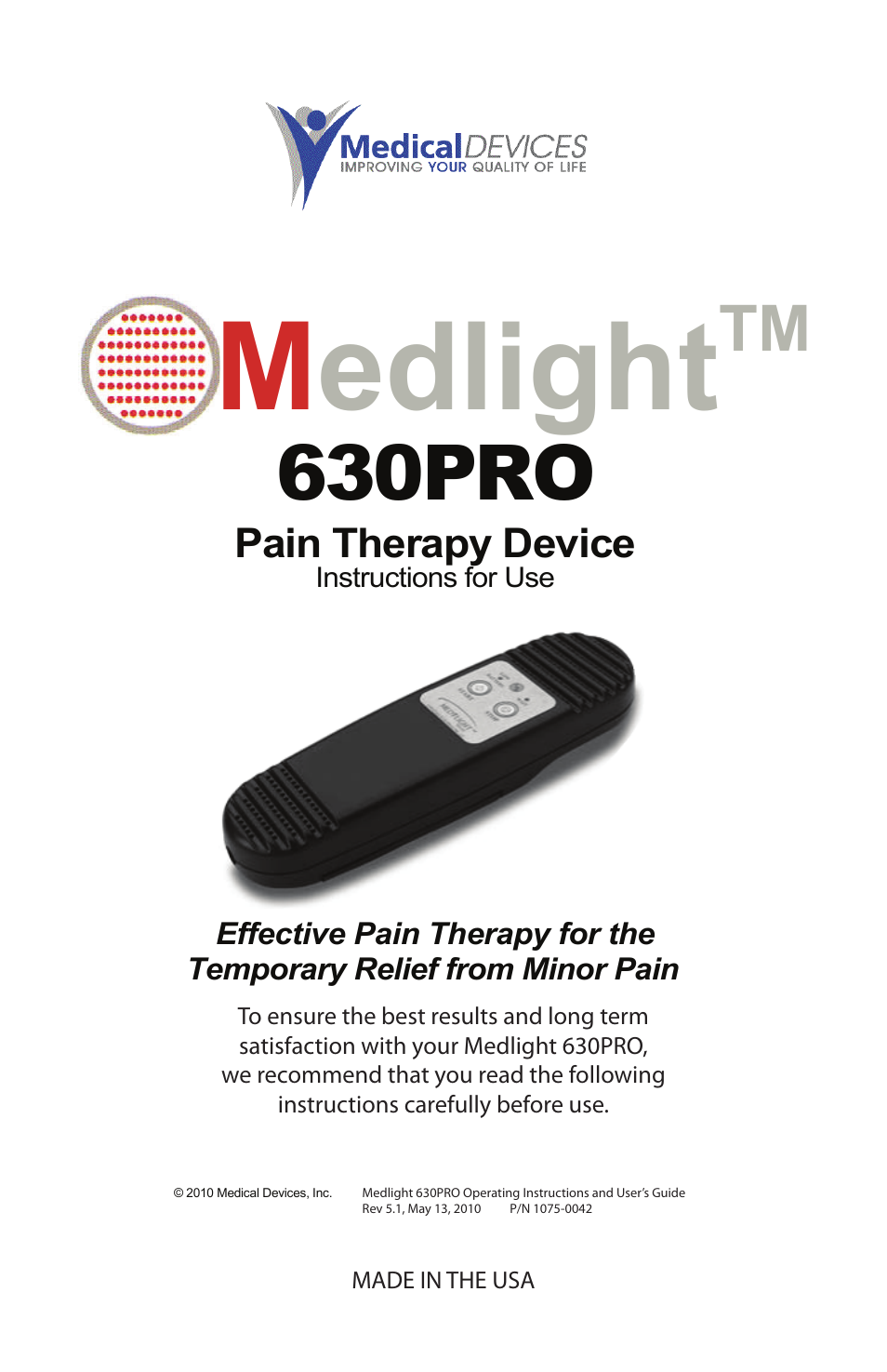 activeforever medlight 630 pro near infrared light therapy device rh manualsdir com Owner's Manual Instruction Manual Book