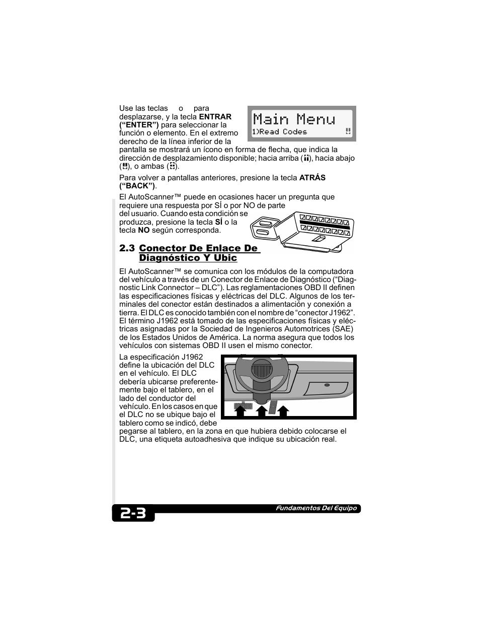 3 conector de enlace de diagn stico y ubic main menu actron rh manualsdir com Actron CP9135 Link Error Actron CP9135 Update
