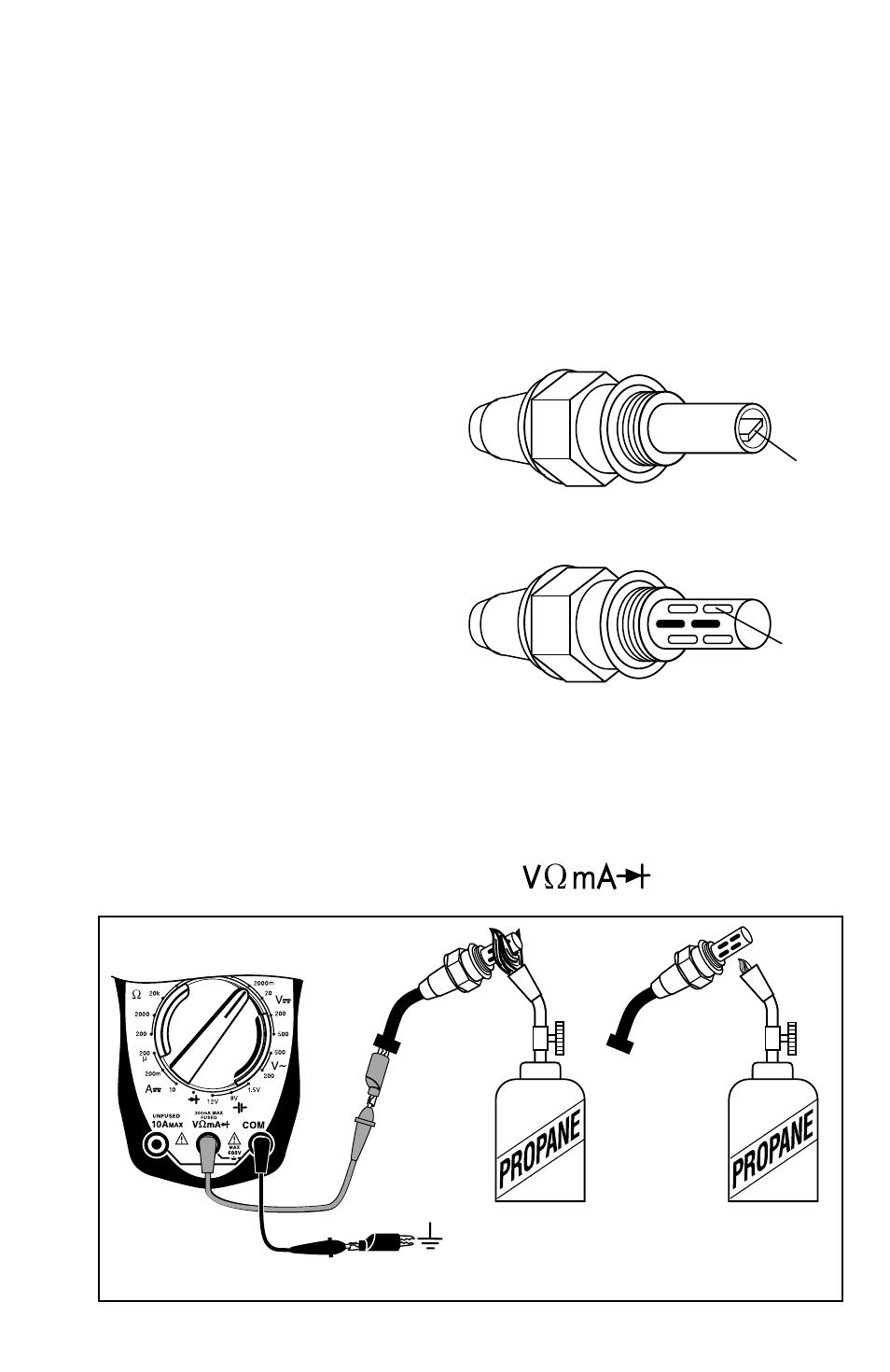 testing engine sensors oxygen o type sensors actron rh manualsdir com
