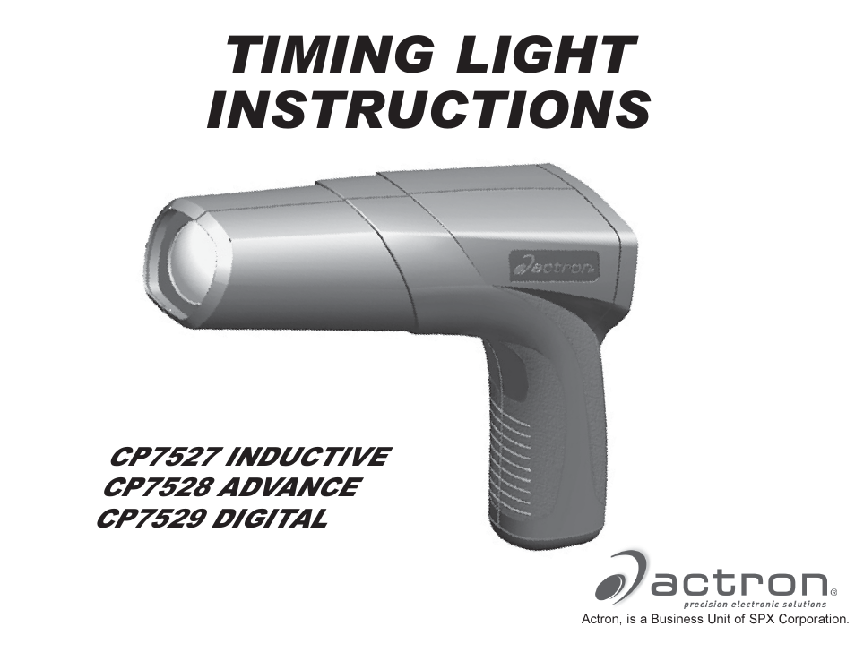 actron advance timing light cp7528 user manual 26 pages also for rh manualsdir com