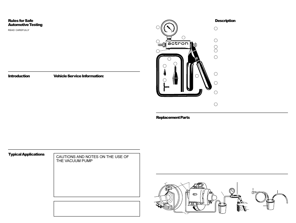 Actron Brake Bleed Kit Cp7835 User Manual 3 Pages Also For Cp7835