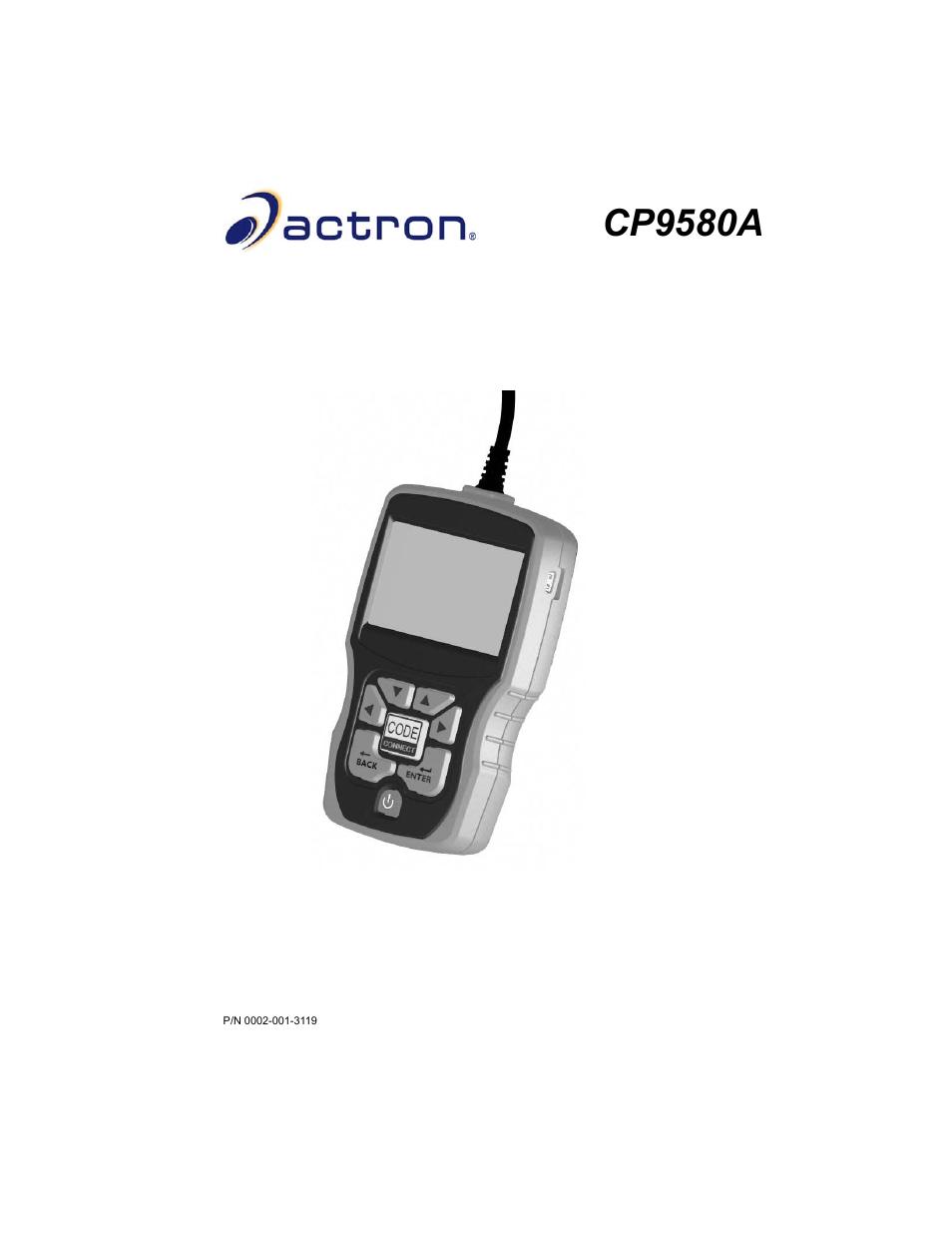 actron autoscanner plus cp9580a user manual 126 pages rh manualsdir com actron cp9580 manual en español pdf actron cp9580 manual en español pdf
