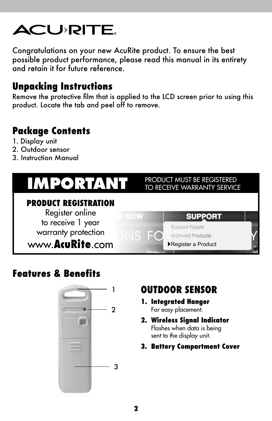 Acurite 00827 Weather Station User Manual Manual Guide