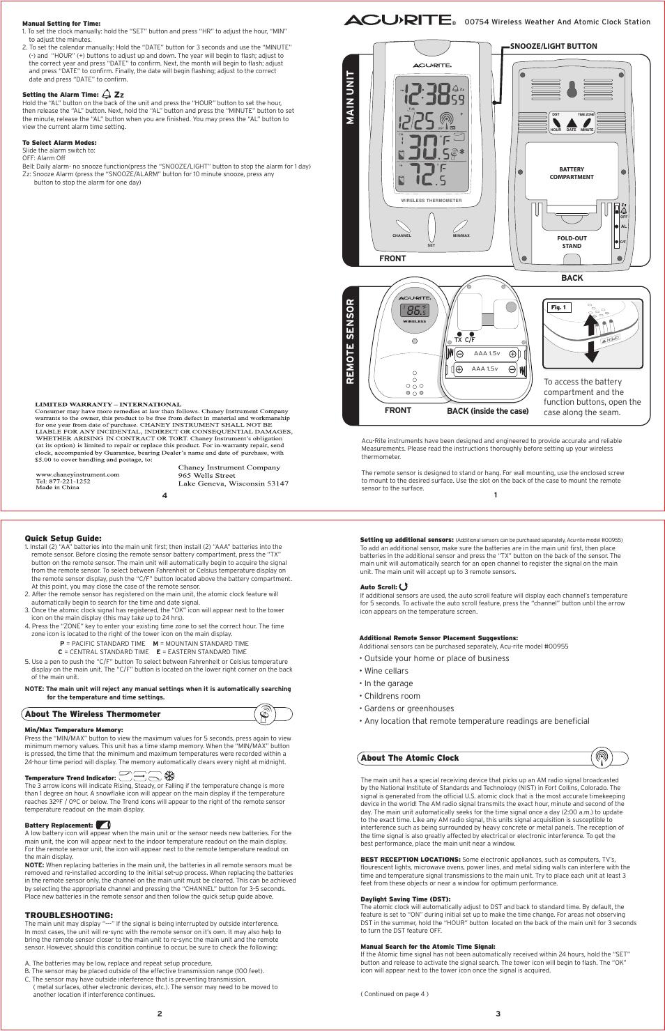 Download Acu Rite 00754 Manual Guide