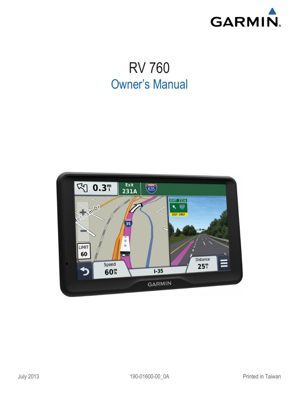 garmin rv 760lmt user manual 24 pages rh manualsdir com gps garmin nuvi 760 manual Update Garmin Nuvi 760 GPS
