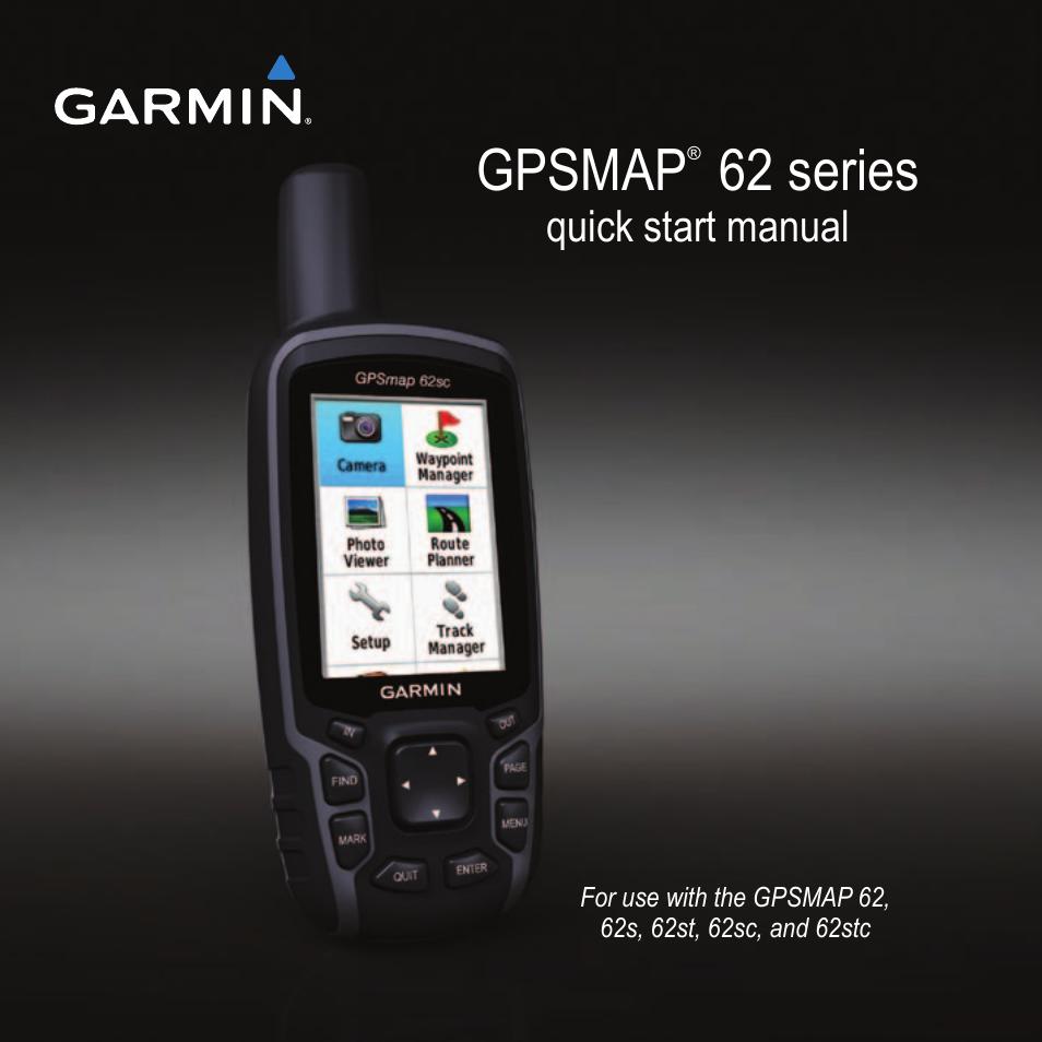 manual gps garmin map 62s