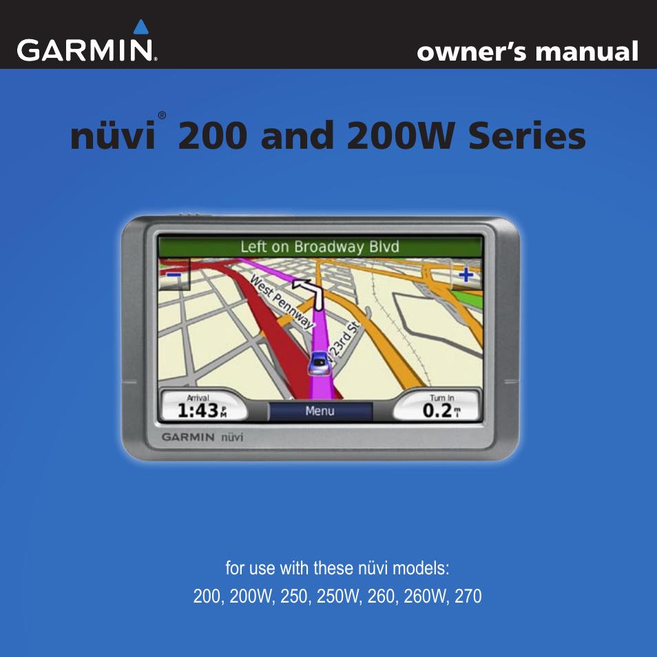 garmin nuvi 270 user manual 50 pages rh manualsdir com Garmin GPS Manual Garmin Nuvi Owner's Manual