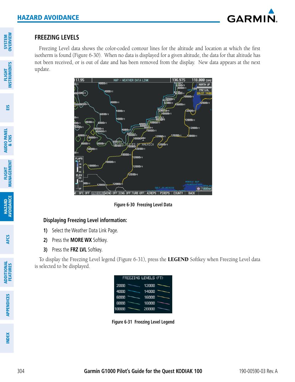 hazard avoidance freezing levels garmin g1000 quest kodiak user rh manualsdir com garmin 1000 owners manual garmin edge 1000 user manual pdf