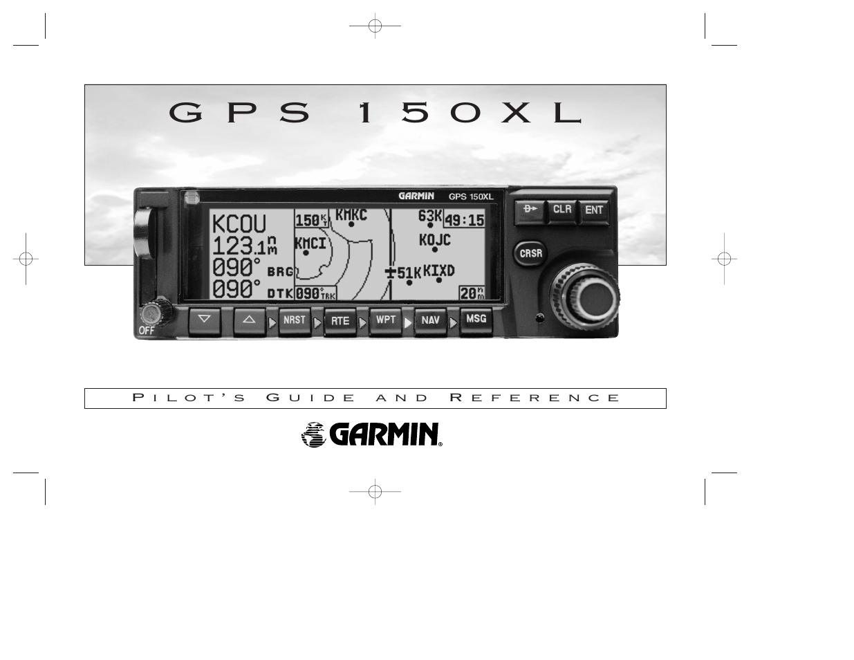 garmin gps 150xl user manual 112 pages rh manualsdir com Moving Map GPS Garmin GNC 250Xl Manual