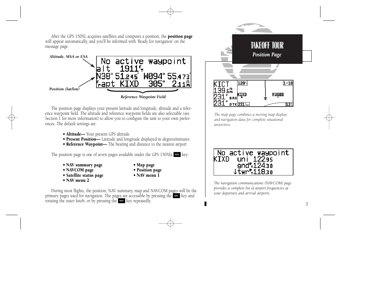 garmin gps 150xl user manual page 13 112 rh manualsdir com Moving Map GPS Garmin 250Xl Installation Manual
