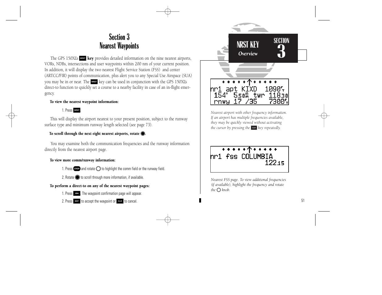 nrst key garmin gps 150xl user manual page 61 112 rh manualsdir com Garmin GPS Menu Garmin GPS Menu