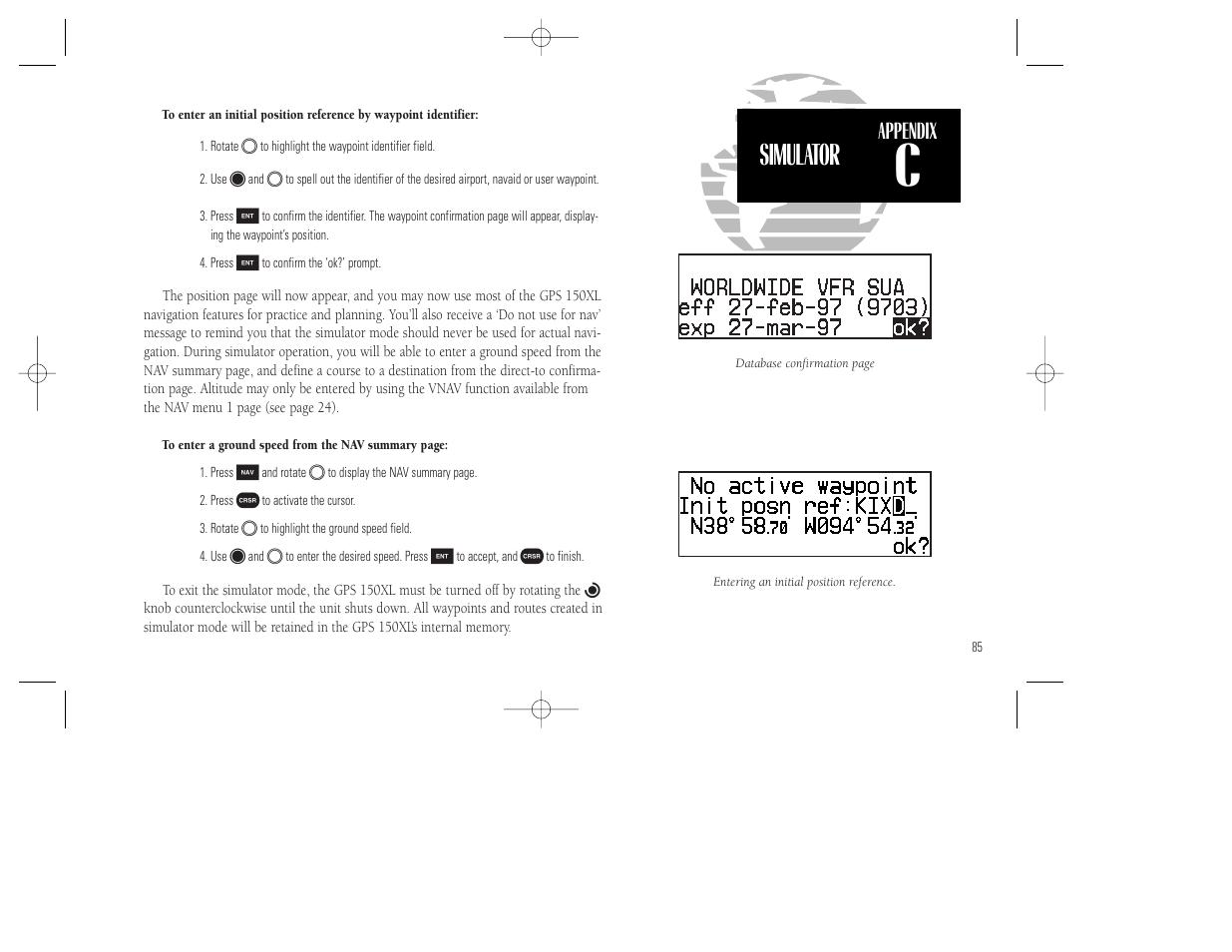 simulator appendix garmin gps 150xl user manual page 95 112 rh manualsdir com Garmin Aviation GPS VFR IFR in GPS