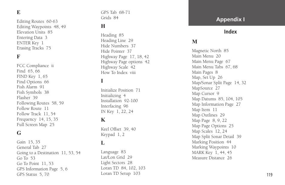 Garmin GPSMAP 178C Sounder User Manual | Page 129 / 134